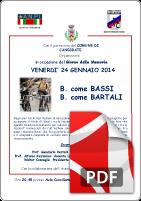 24 gennaio 2014 Bartali