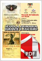 Locandina Scuola Fascismo 2