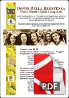 Locandina mostra partigiane 7 Marzo 2014