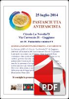 Locandina pastasciutta antifascista 2014