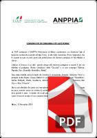 Comunicato Stampa ANPPIA