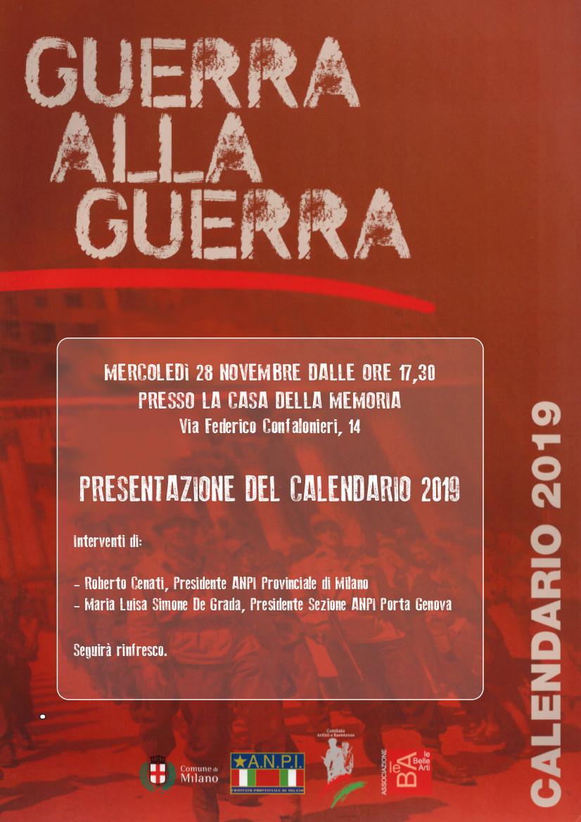 Calendario Milano.Presentazione Calendario 2019 A N P I Milano E Provincia